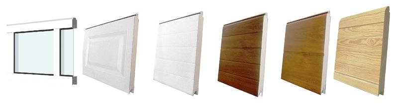 Puertas de garaje seccionales - Paneles madera exterior ...