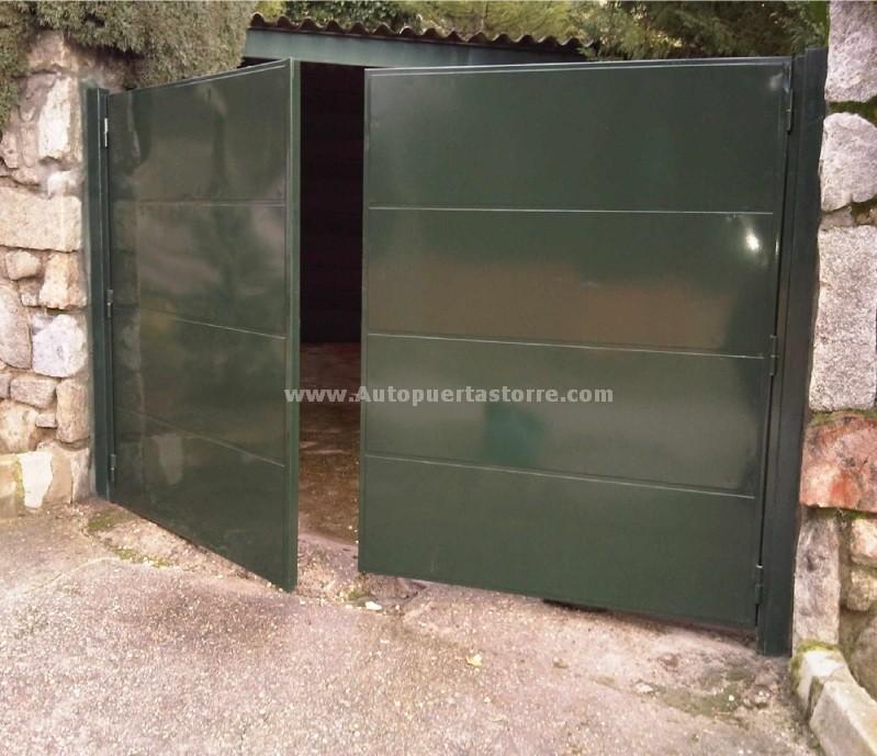 Puertas de chapa exterior free puertas guillotinas magma en chapa negra with puertas de chapa - Puertas chapa exterior ...