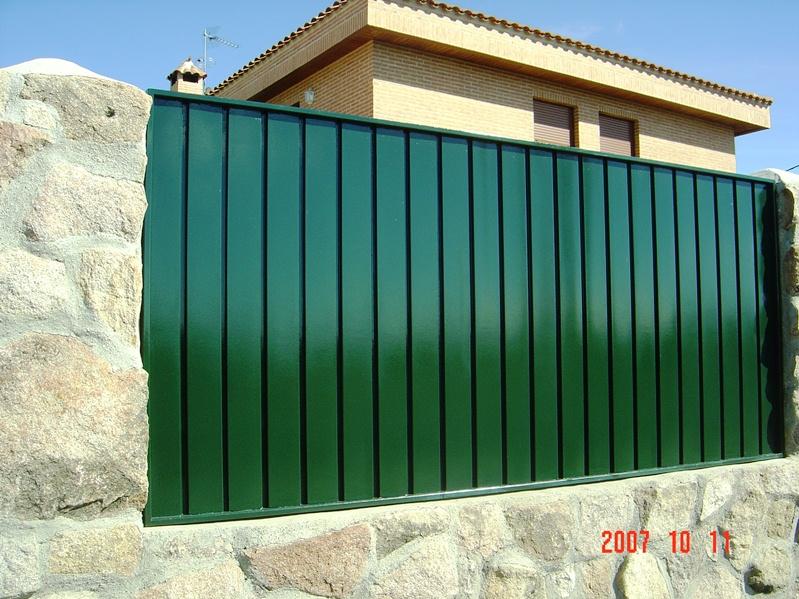 Vallas de chapa perfil p - Vallas para muros ...